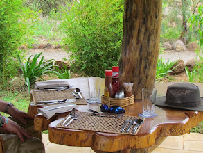 Photo: New tents at Kibo Safari Camp - Amboseli.   Lunch outside when we arrived