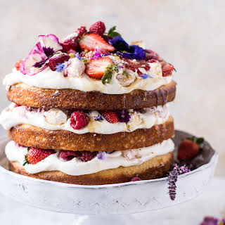 Coconut Eton Mess Cake with Whipped Ricotta Cream..