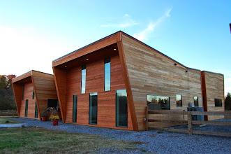 Photo: The 2009 Todd Mason House, Mooresville NC, designed by Tonino Vicari, Monroe MI.  Engineering by Robert Darvas.  Built by Todd Mason.  Photos by Jordan Rickard.
