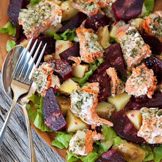 Composed Salad With Salmon And Beets