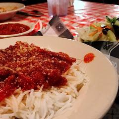 GF pasta and marinara sauce
