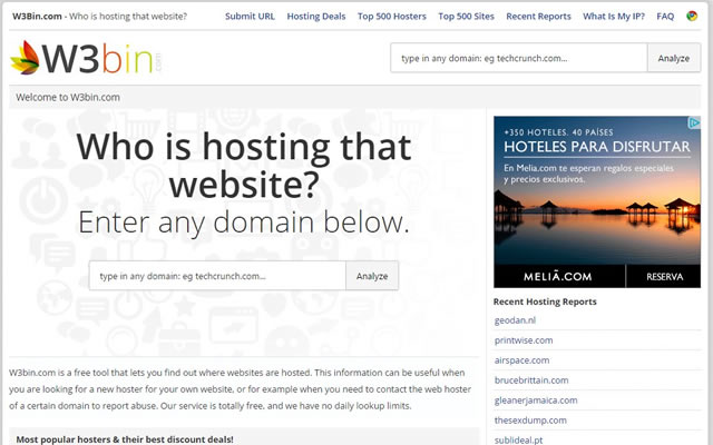 W3bin.com - Who is hosting that website?
