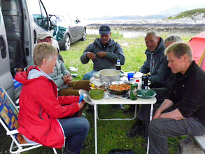 Photo: Samling på Torghatten camping lørdag kveld
