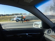 Ford Kuga goes up in smoke in Sandton, Johannesburg.