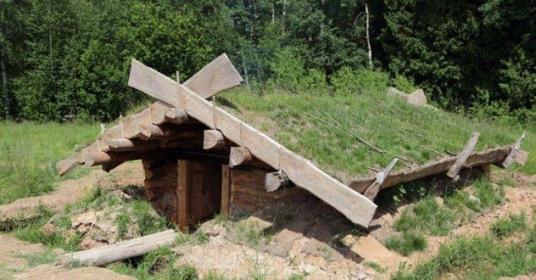 Idealny do budowy ziemianki jest fragment ogrodu ze wzniesieniem terenu.