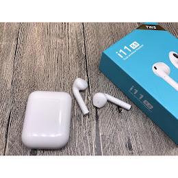 Casti Bluetooth i11 5.0 TWS, Android & iOS, cu stand de incarcare wireless