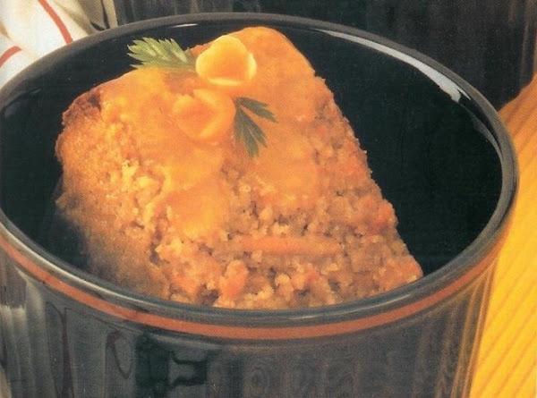 Carrot Pudding Cake With Lemon Sauce Recipe