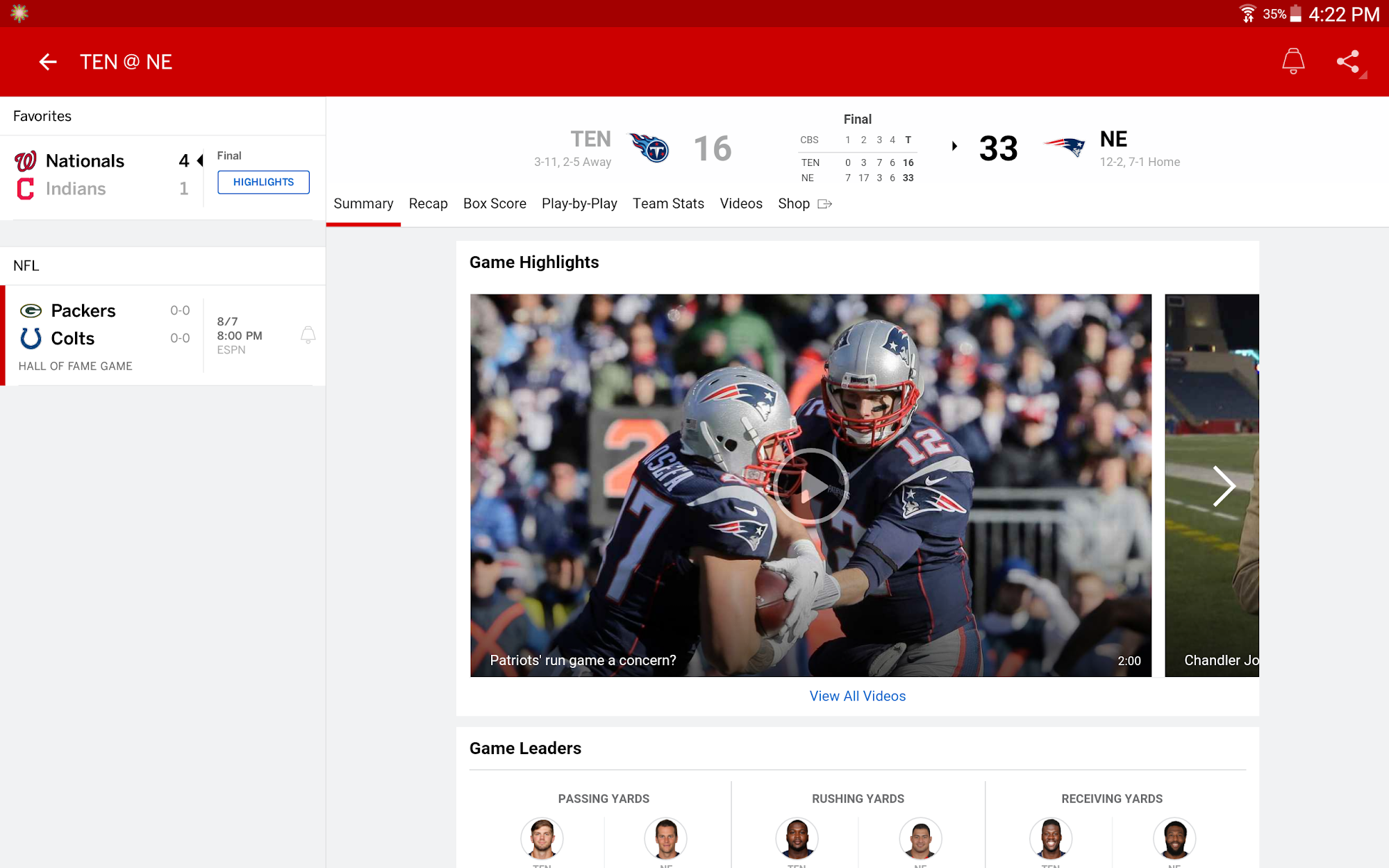 ESPN screenshot #10