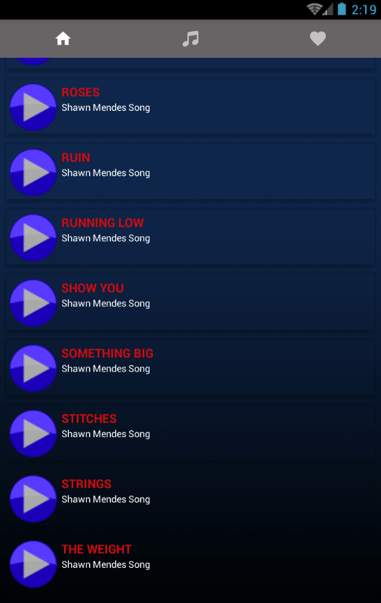 Shawn Mendes songs and Lyrics New - Android Apps on Google Play