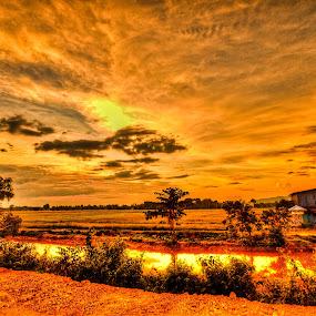 sunset2 by Chairelgibrant Othman - Landscapes Sunsets & Sunrises