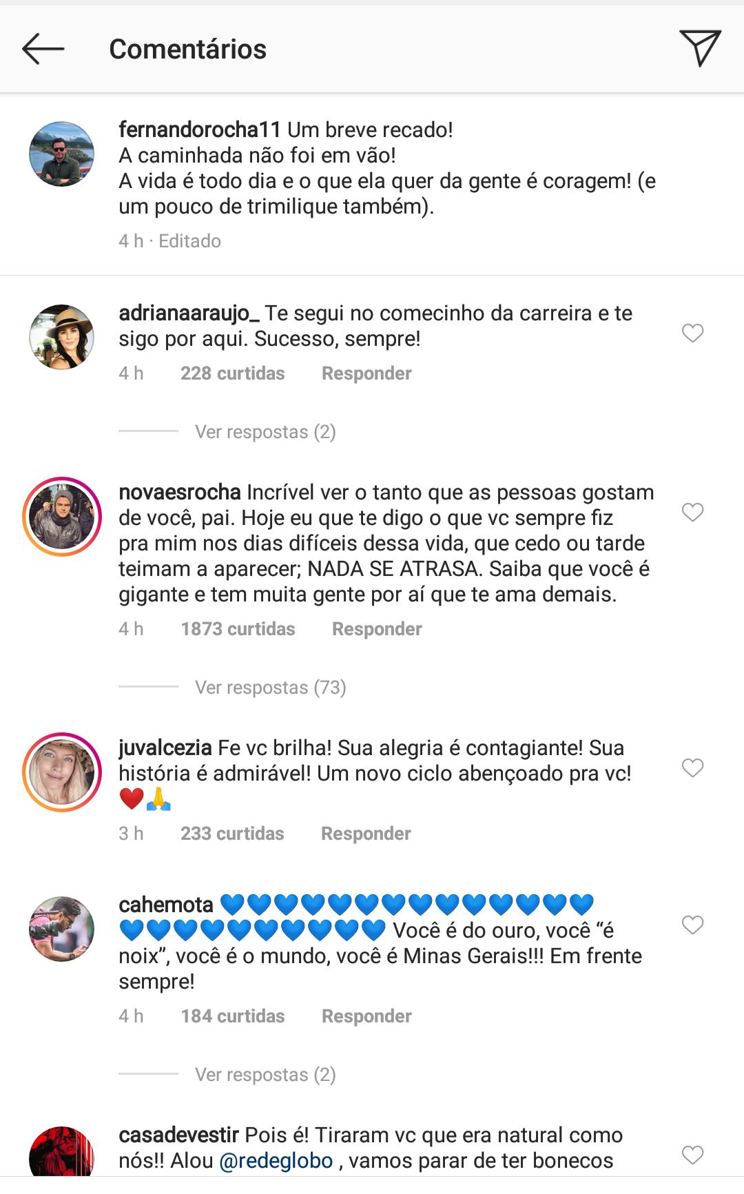 """Fernando Rocha ganha apoio de famosos e dispara: """"Eu vou pra um lugar que eu possa fazer meus tremeliques"""""""