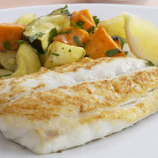 Snapper Fillets with Herb and Caper Butter.