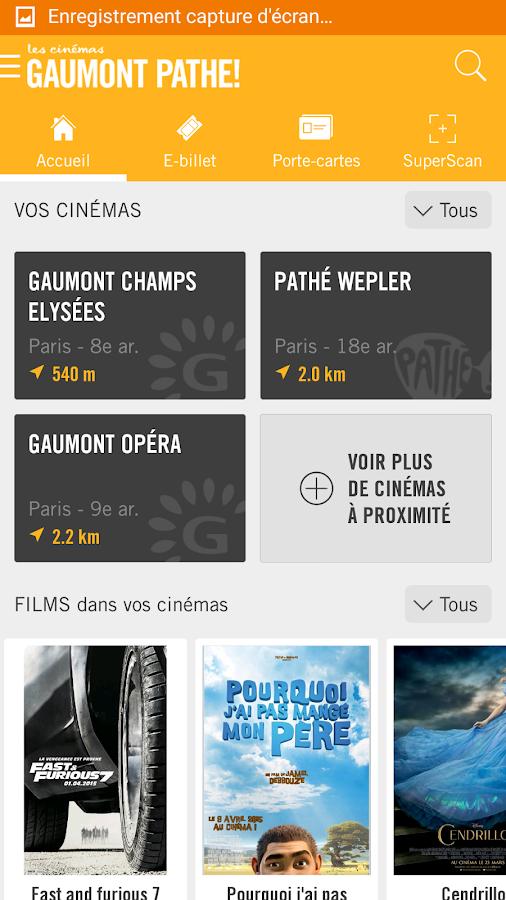 Les cin mas gaumont path android apps on google play - Carte fidelite gaumont ...