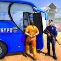 Offroad US Police Bus 2020 Criminal Transport Game icon
