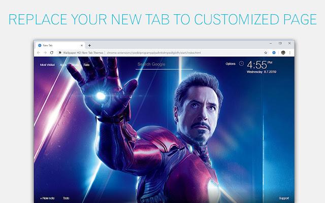 Iron Man Backgrounds HD Custom Marvel New Tab