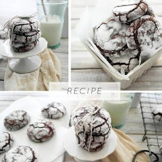 Chocolate Crinkle Cookies.