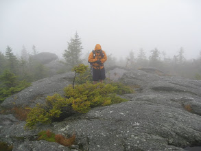 Photo: Thanks to the weather, Mount Hunger was viewless summit number 6. Photo by Dave Socky
