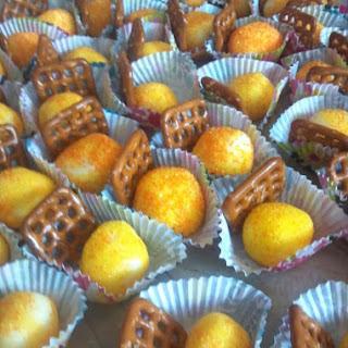 Lemon Zest Infused White Chocolate Truffles.