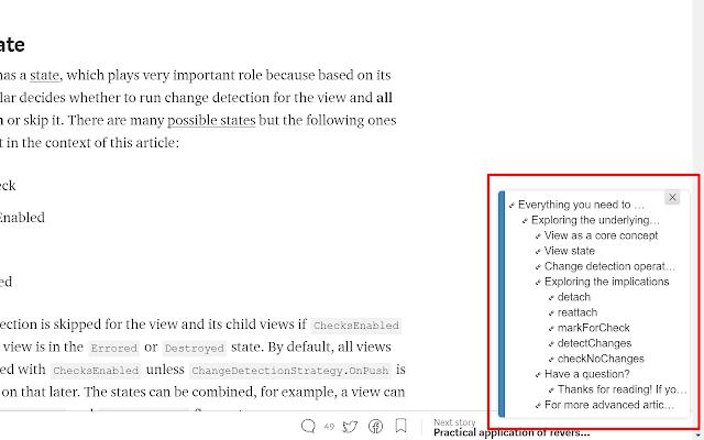 Article ToC Chrome Extension