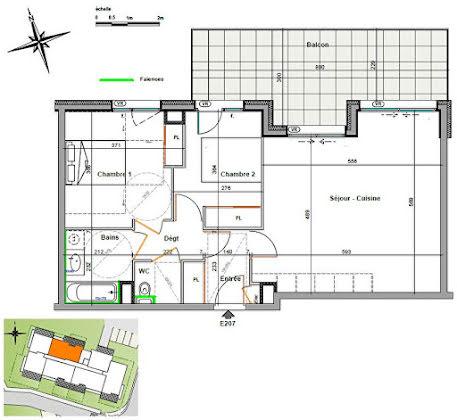 Vente appartement 3 pièces 64,07 m2