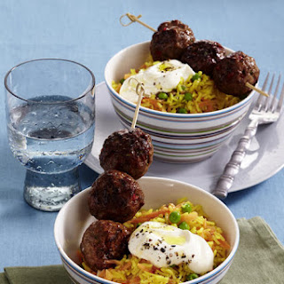 Curry Meatballs Skewers.