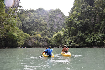 The lagoons in the inner of Panak Island can be only reached by kayak