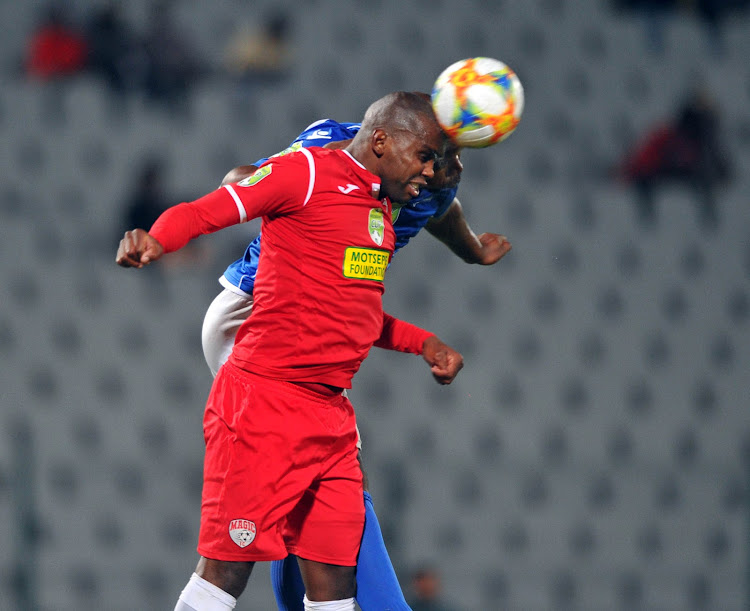 The Magic FC captain Tshepiso Tlhapi (in red) says his teammates are ready for whatever challenges they will face against South Africa's Cup kings Kaizer Chiefs.