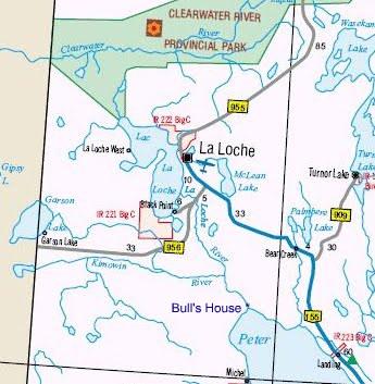 La Loche Canada Map Old and New Maps   History of La Loche
