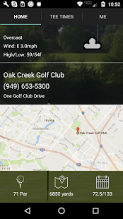 Oak Creek Golf Club Tee Times- screenshot thumbnail