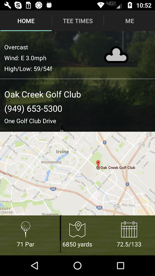 Oak Creek Golf Club Tee Times- screenshot