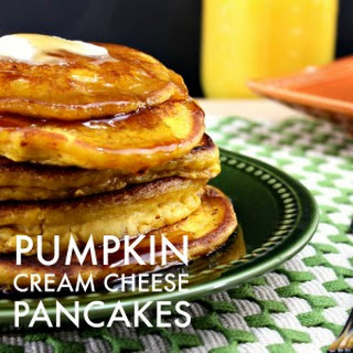 Pumpkin Cream Cheese Pancakes