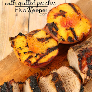Spicy Pork Tenderloin with Grilled Peaches Recipe