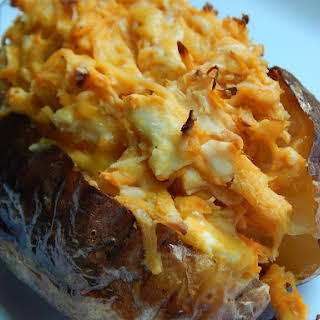 Buffalo Chicken Stuffed Baked Potato.