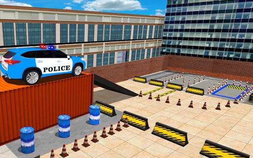 Police Jeep Spooky Stunt Parking 3D apkpoly screenshots 9