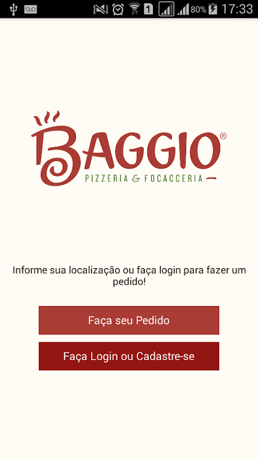 Pizzaria Baggio- screenshot