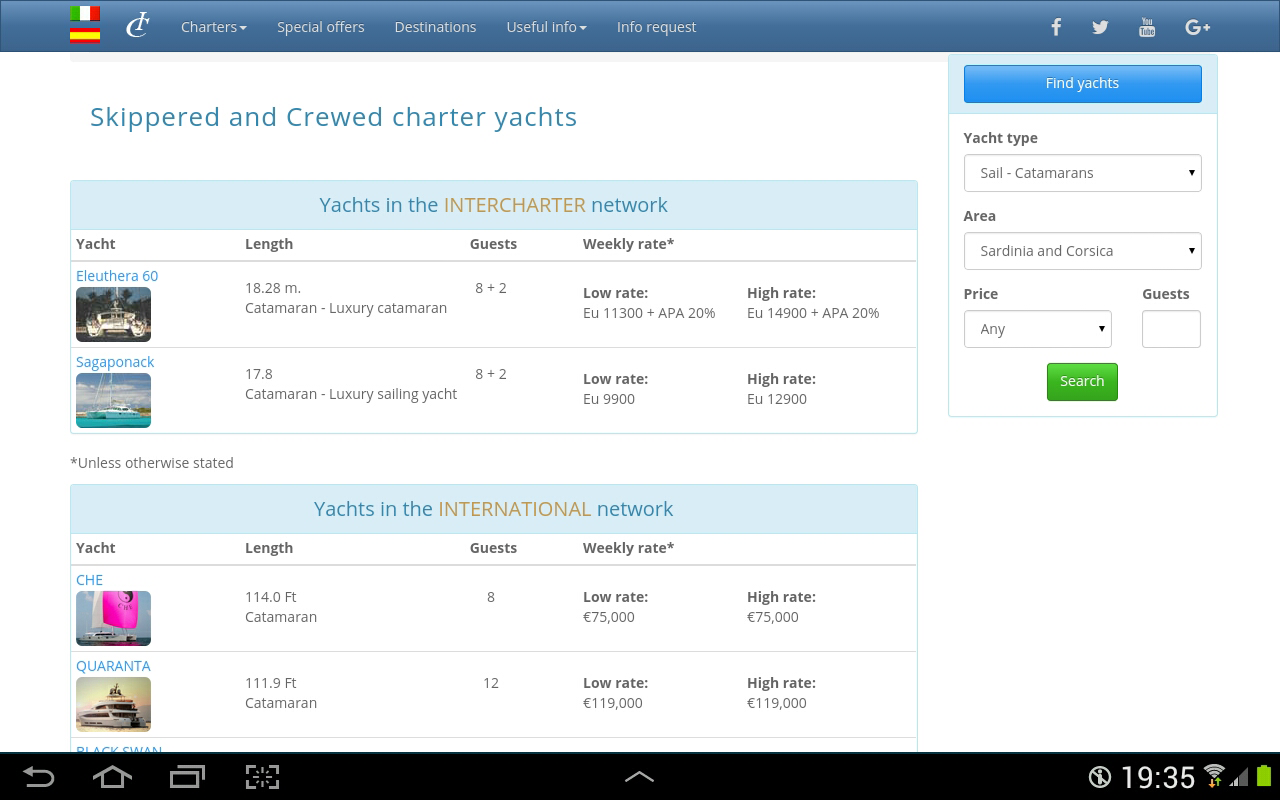 InterCharter- screenshot