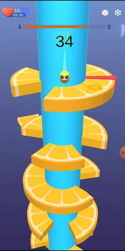 Imágenes de Orange Ball Helix Jump 5