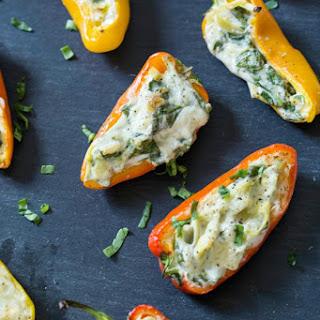 Spinach & Artichoke Stuffed Mini Peppers
