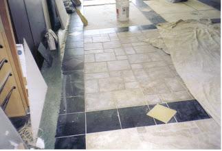 Photo: Store showroom tile floors