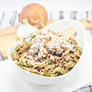 Kale, Mushroom and Beef Ragu with Super Greens Rotini