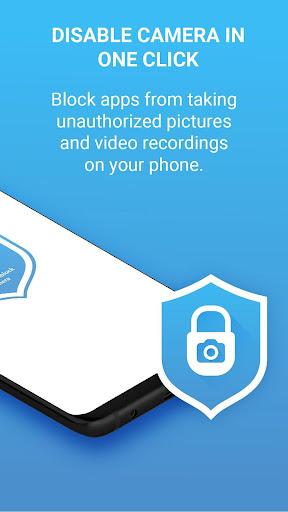 Camera Block Pro - Anti malware & Anti spyware app screenshot