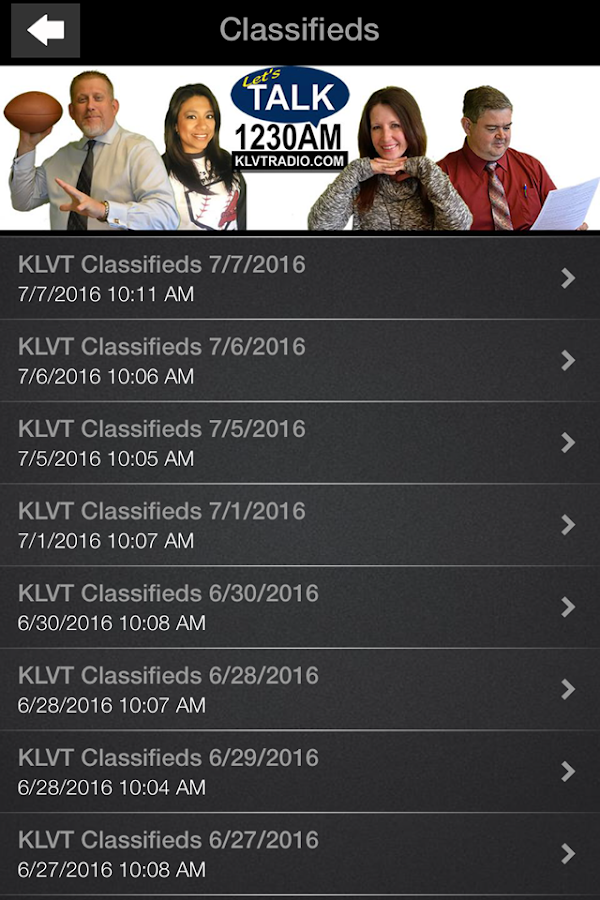 KLVT 1230 AM- screenshot