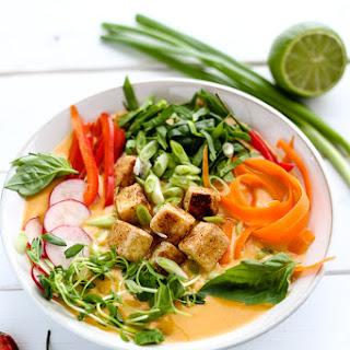 Creamy Vegan Red Coconut Curry Soup Recipe