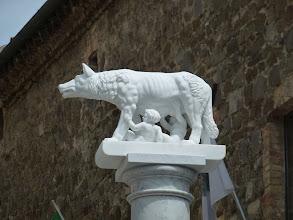Photo: The icon of Siena region, two boys drinking wolf milk