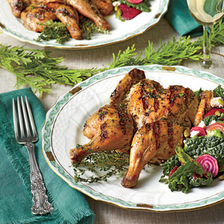 Grilled Cornish Hens with Herb Brine.