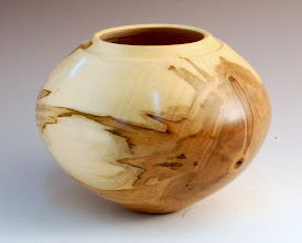 "Photo: Clif Poodry - Completed Bowl from July Demo - 8"" x 6"" - Maple"