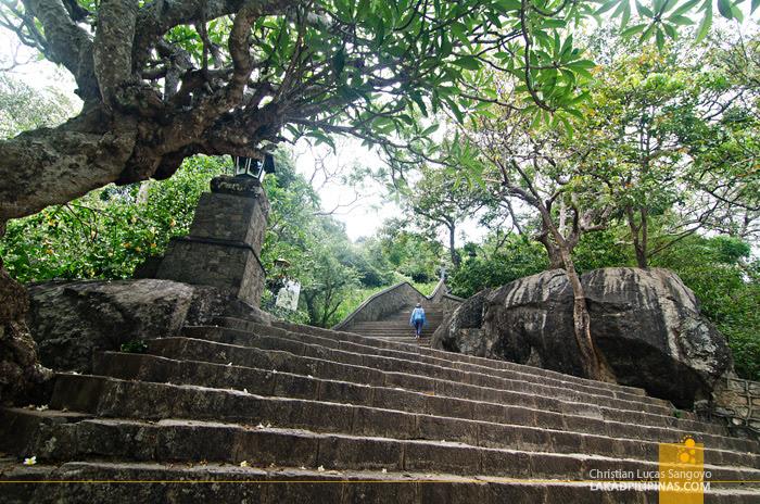Dambulla Cave Temple Stairs Sri Lanka