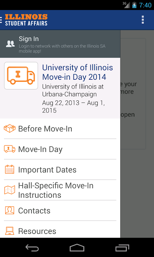 Illinois Student Affairs- screenshot