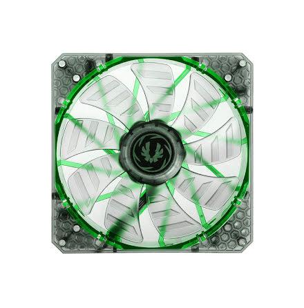 Bitfenix vifte m/grønn LED, Spectre PRO, 140x25