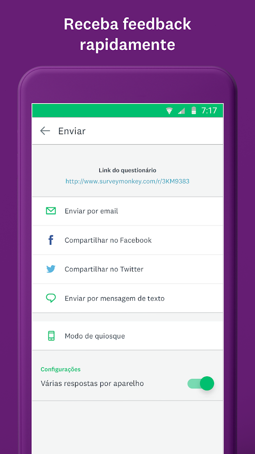 SurveyMonkey– captura de ecrã